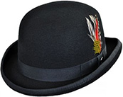 Jaxon black wool felt bowler hat