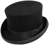 Jaxon black wool midcrown tophat