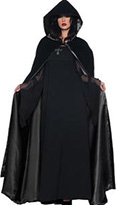 Underwraps deluxe black velvet cape with black satin lining