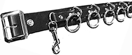 36b-5 ring leather bondage belt