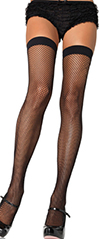Leg Ave. black fishnet thigh high stockings