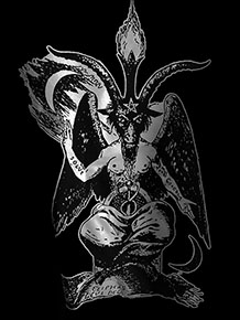Baphomet black short sleeve men's Lord of the Left Hand t-shirt