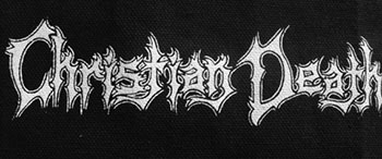 Christian Death logo cloth sew-on printed patch