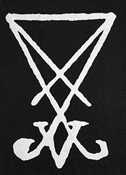 Sigil of Lucifer cloth sew-on printed patch