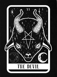 Too Fast The Devil Tarot Baby Goat sew-on raw edge cloth patch