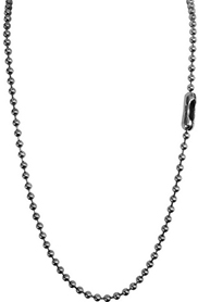 Plain steel ball chain necklace