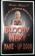 Bloody Mary makeup instruction booklet for Halloween makeup effects by Hollywood makeup effects artist Bobbie Weiner. 30 pages