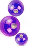 14 ga blue/purple niobium dimpled captive ball for use with 14 ga captive bead ring