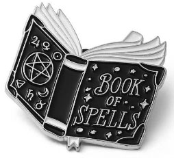Killstar Book of Spells enamel pin