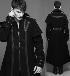 Devil Fashion double breasted gothic palace coat
