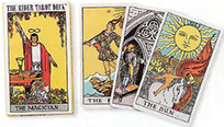 Mini Rider Waite tarot deck by Pamela Coleman Smith