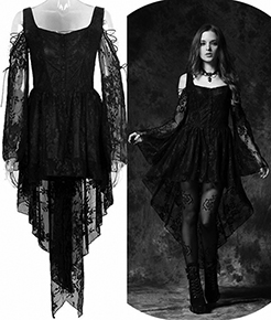 Black off shoulder lace Dark in Love dress