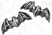 Alchemy English pewter bat stud earring