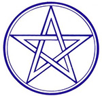 Square Pentagram sticker
