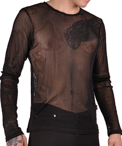 Ipso Facto Men's Gothic Punk Long Sleeve Shirts, Thermals