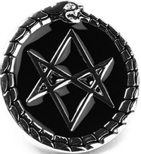 Killstar hexagram enamel pin