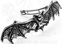 Alchemy English Pewter Darkling Bat hair slide