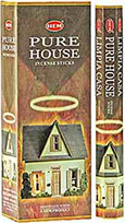 Hem Pure House incense 9 inch 20 stick hex pack