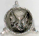 Silver metal dragon incense burner