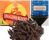Nag champa and dragon's blood cone incense 12 packs