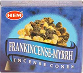 Frankincense and myrrh Hem cone incense 10 pack