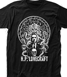 H.P. Lovecraft Impact mens' black/white t-shirt