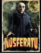 Nosferatu in color Impact mens' black t-shirt