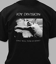 Joy Division Love Will Tear Us Apart adult men's tee