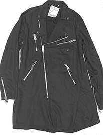 Lip Service /Kill City guys' black denim trench coat