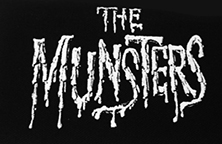 Black and white Munsters sew-on raw edge cloth patch