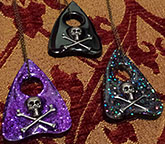 Handmade Sweet Midnight Ouija Planchette necklace