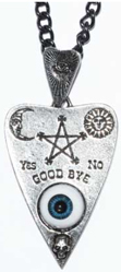 Alchemy English pewter Planchette eyeball pendant necklace