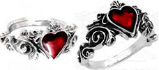 Alchemy gothic English pewter Betrothal ring