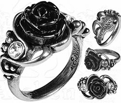 Alchemy English pewter Bacchanal rose ring