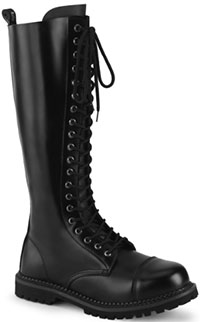 20 eye leather Demonia Riot boots