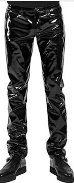 Tripp men's shiny vinyl fitted pants