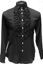Shrine long sleeve mens' black empire tuxedo shirt