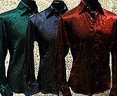 Shrine long sleeve lightweight men's shimmer shirt with pearl snaps down front and at cuffs