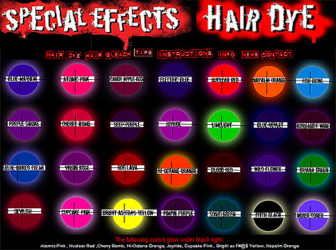 special effects hair dye