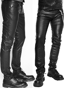 Tripp black skinny pleather guys pant