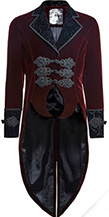 Punk Rave mens red velvet Bloodborne jacket