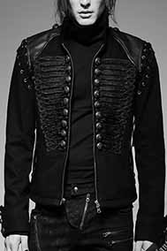 Punk Rave men's Smog laced sleeve moto jacket
