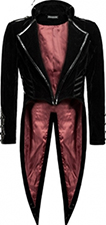 Punk Rave men's military style lined Phantom tails jacket